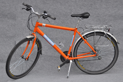helia orange classic gents touring bike